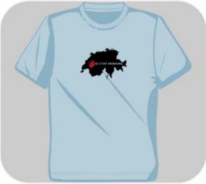 T-Shirt ICI C'EST FRIBOURG Canton